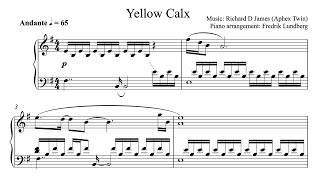 Aphex Twin - Yellow calx  (Piano Cover with Sheet Music) Resimi