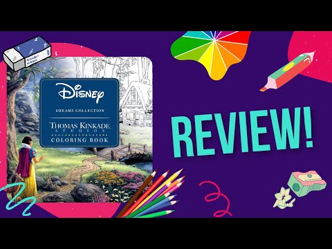 dreams-by-thomas-kinkade-|-colouring-book-review