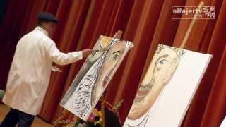 فنان فلسطيني يبهر المجتمع الغربي في عشر دقائق