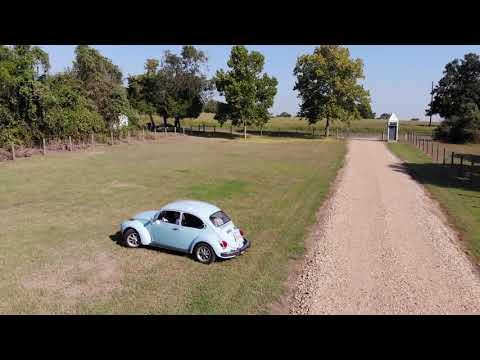 Drone test 1971 VW super beetle