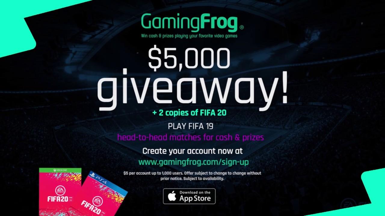 Win Cash & Prizes playing FIFA 19 | Gaming Frog