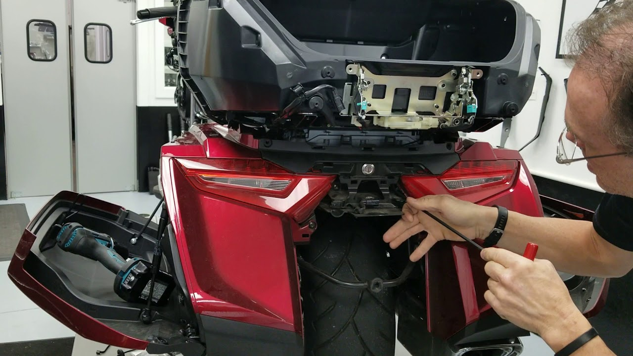 Trunk Accessory and USB cable Installation Preparation Part 2 - 2018+ Honda  Gold Wing