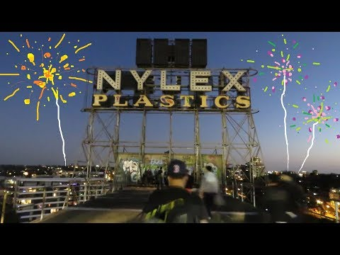 Climbing Melbourne's Nylex Sign For New Year's Eve 2017/18