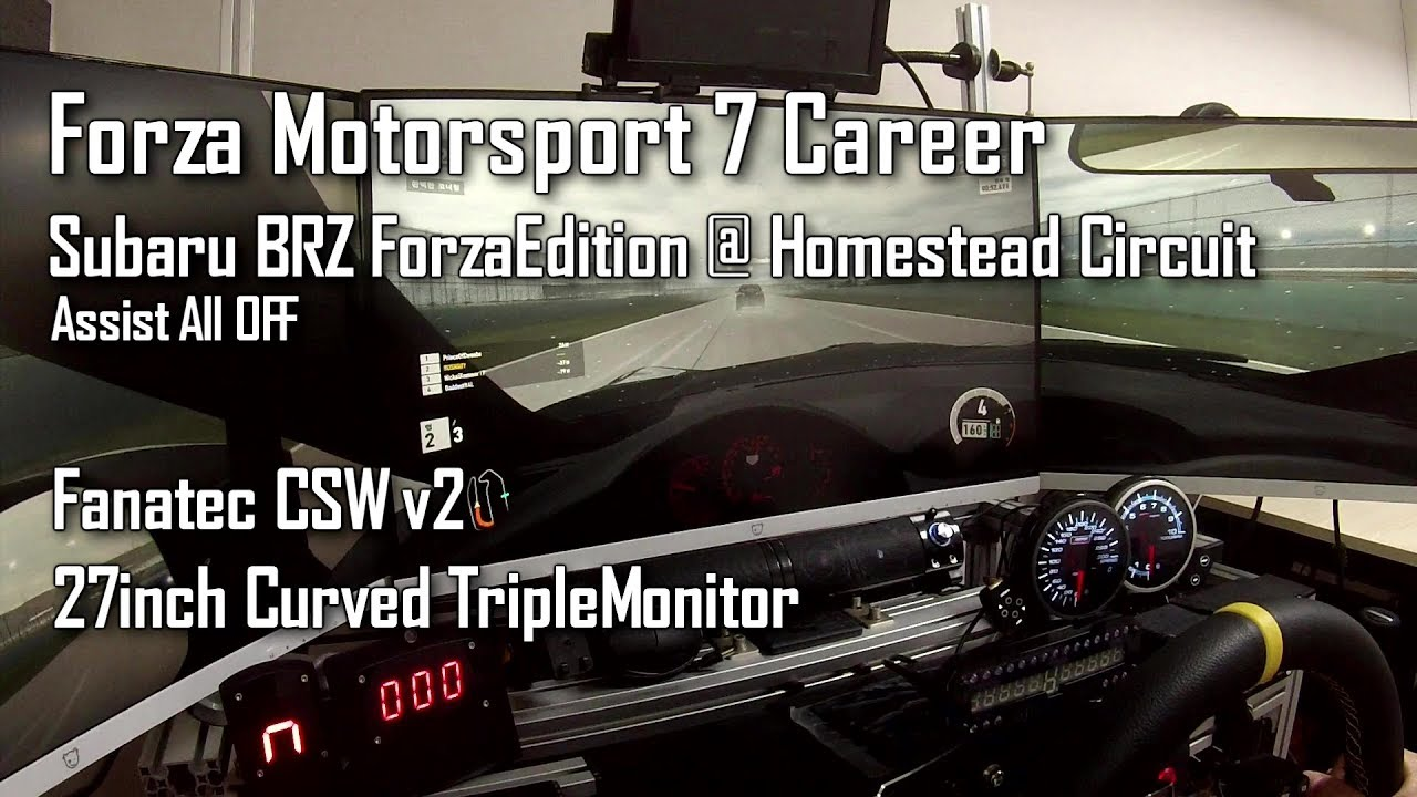 pc forza motorsport 7 career gameplay fanatec csw v2 triple monitor youtube. Black Bedroom Furniture Sets. Home Design Ideas