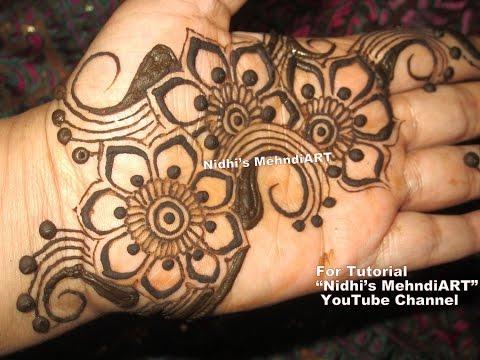 Henna Mehndi Nail Art : Pretty arabic henna mehndi designs for hands floral art