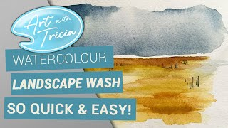 Watercolour landscape washes