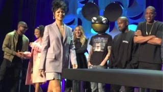 Beyonce,Jay Z, Rihanna And Others Attend The Roc Nation: Tidal Streaming Press Conference