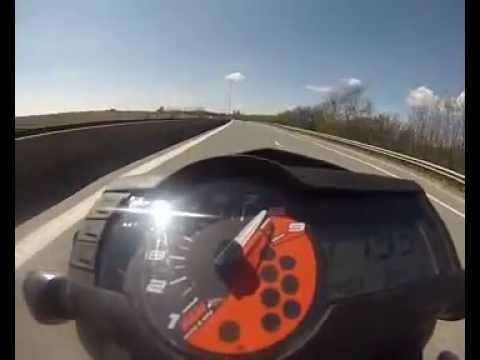 ktm duke 690 top speed - youtube