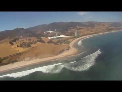 Long EZ Formation Flight from Santa Ynez over Hollister Ranch with Capt Charlie Plumb and Eric Cobb