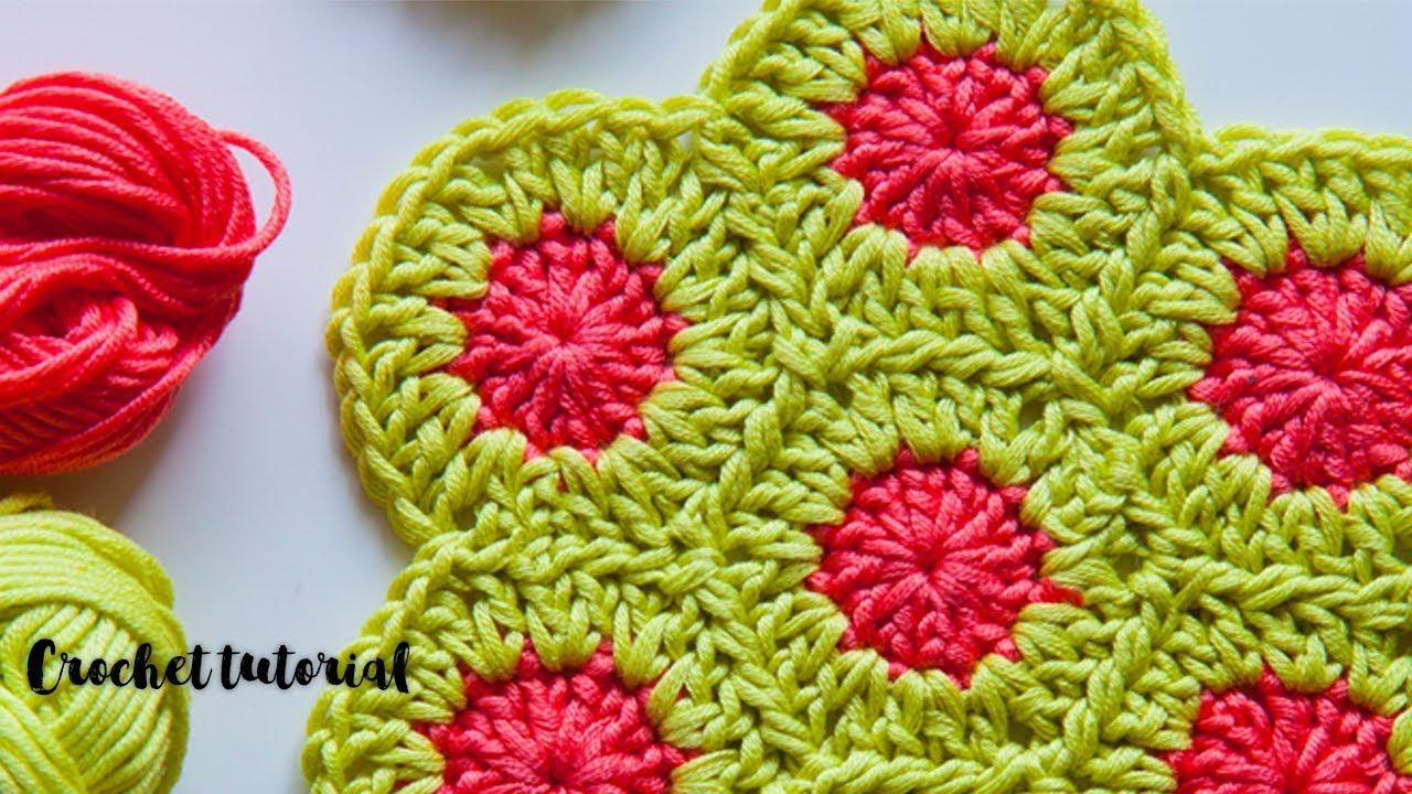 шестиугольник крючком за 10 минут мотив крючком быстро Crochet