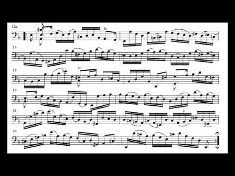 J. S. Bach Cello Suite n. 2 BWV 1008 - 2. Allemande - Piano Transcription [tbpt4]