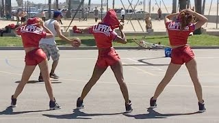 LA Clippers Dance Squad Interrupts Pickup Basketball Game to Dance