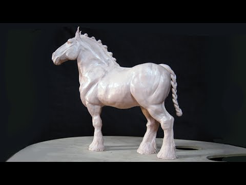 Art lesson:  How to Sculpt a Shire Draught Horse with Polymer Clay