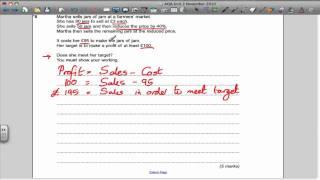 aqa unit 2 maths gcse november 2010 past paper solutions