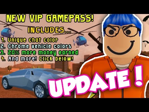 NEW UPDATE IN ROBLOX JAILBREAK!! VIP PASS AND NEW CAR! (Roblox Jailbreak)