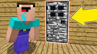 Minecraft Battle - NOOB vs PRO : WHAT DID NOOB FOUND BEHIND SECRET BEDROCK DOOR ? (Animation)