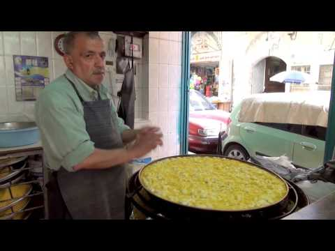 KNAFE RECIPE IN NABLUS (un dolce  palestinese - knufa, knafeh, knafah, ishta, ater)