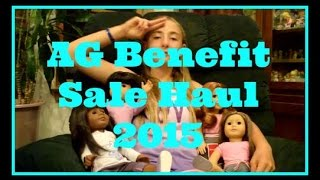 American Girl Doll Benefit Sale HAUL 2015 guess what we got! Minions :)