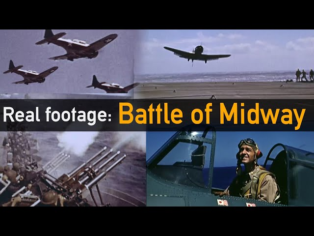 Is this REAL footage from the Battle of Midway?
