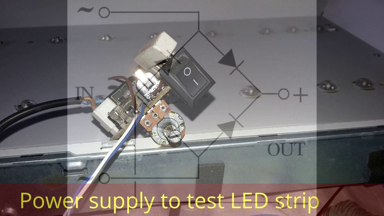 how to build a power supply to test led strip for led tv home made device all brand  [ 1280 x 720 Pixel ]