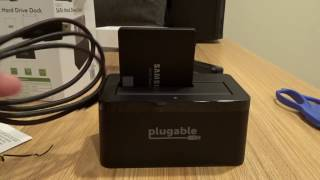 Plugable USB-C SATA Hard Drive Dock Unboxing