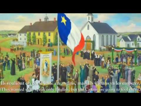 Learn French with Songs, Acadie à la Louisiane French & English Lyrics Cajun Songs Music