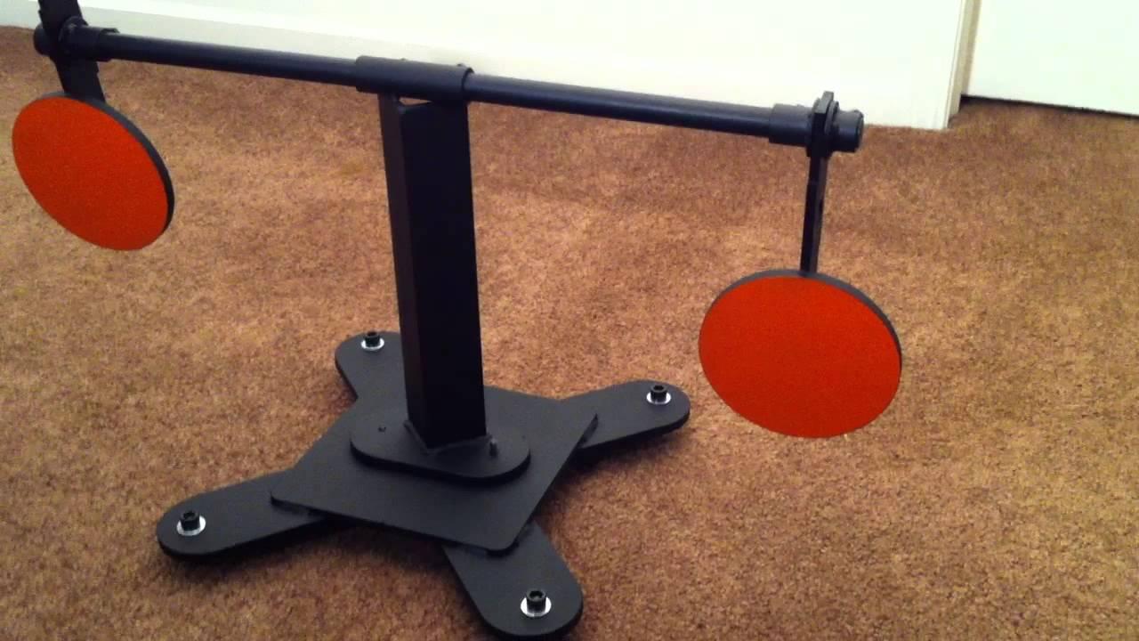 Steel homemade targets swinging