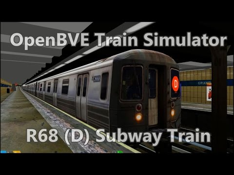 OpenBVE ►R68 | D | 205 St to Coney Island!◀