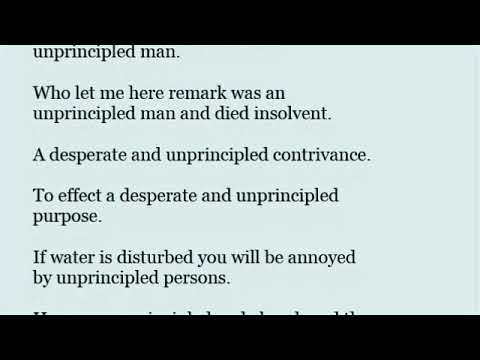 Unprincipled In A Sentence With Pronunciation Youtube It was a desperate chance. unprincipled in a sentence with
