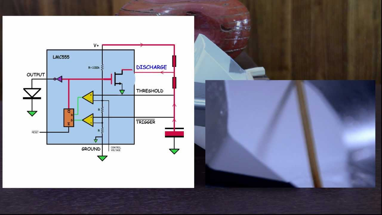 555 Timer Circuit Theory And Mechanical Analogy Youtube Internal Monostable Diagram Ic