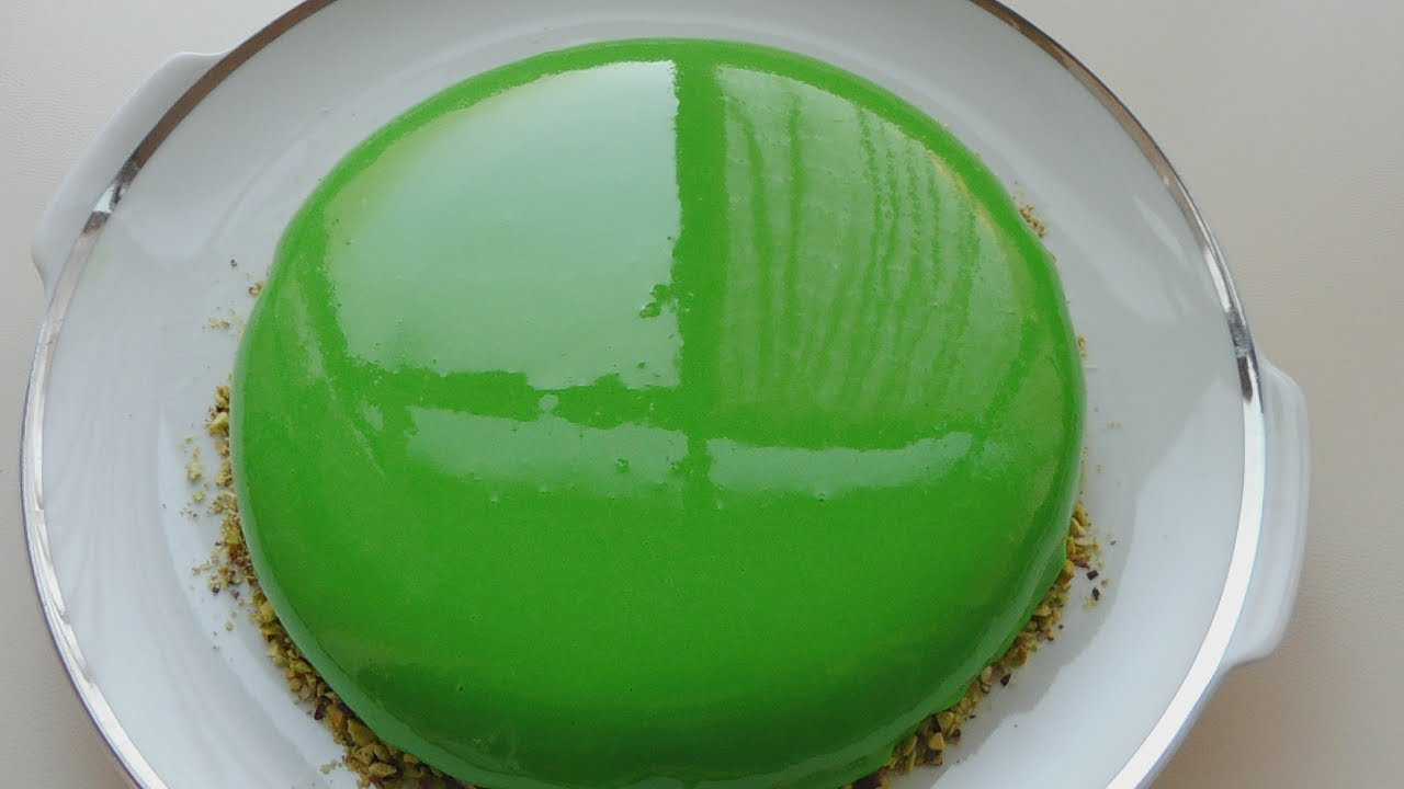 Pistachio Mousse Cake Mirror Glaze Youtube