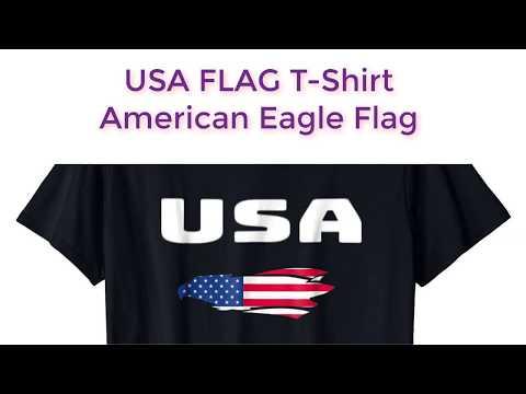 USA FLAG T-Shirt American Eagle Flag United States Of America
