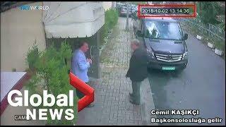 Security footage captures last time Saudi journalist seen entering embassy