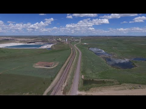 Wyodak Power Plant Gillette Wyoming from drone