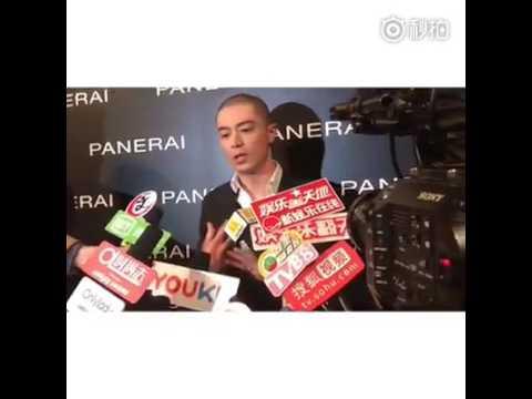 Wallace Huo accepting media interview as Panerai ambassador