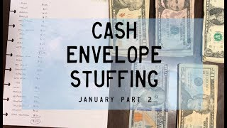 Cash Envelope Stuffing | January pt. 2 | Part-Time | Dave Ramsey Inspired | BudgetWithBri