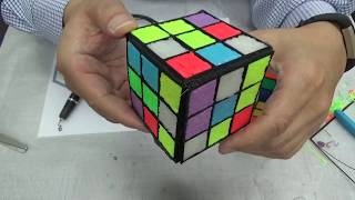 Rubik's Cube, 3D Pen Fill Color From Inside and Build U\p