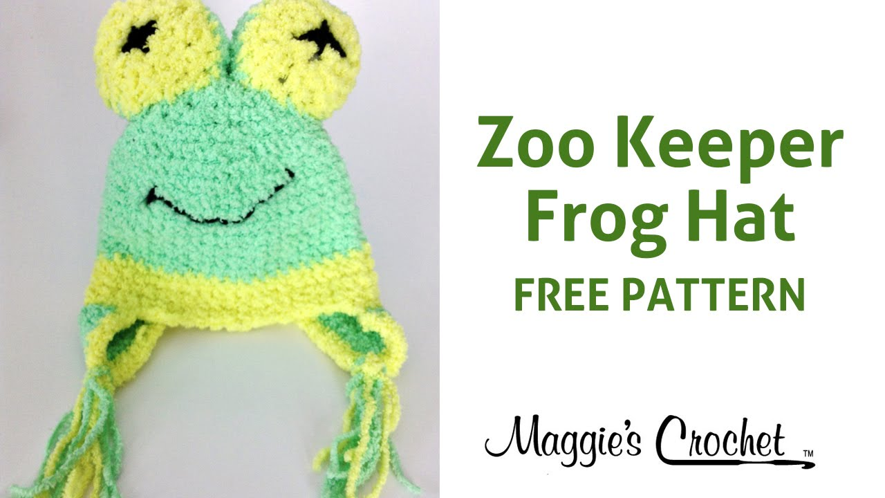 1bb1253721a Frog Hat Free Crochet Pattern Right Handed - YouTube