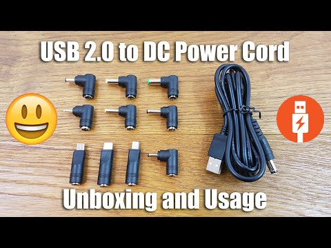 USB 2.0 To DC Power Cord And Adapters [Unboxing]