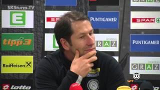 SK Sturm: Mediabriefing vor SK Rapid Wien (23. Runde 2015/16)