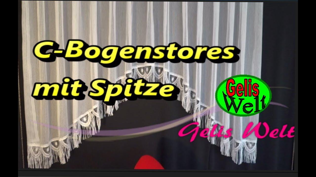 Diy C Bogengardine Stores Mit Spitze Einfach Selber Nahen Youtube