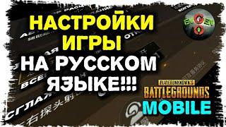 НАСТРОЙКИ НА РУССКОМ! PUBG MOBILE в переводе Evgen GoUp!