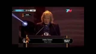 Indio Solari gana el Premio Gardel 2016 (Mejor DVD) - Julio Saez agradece (07-06-2016)