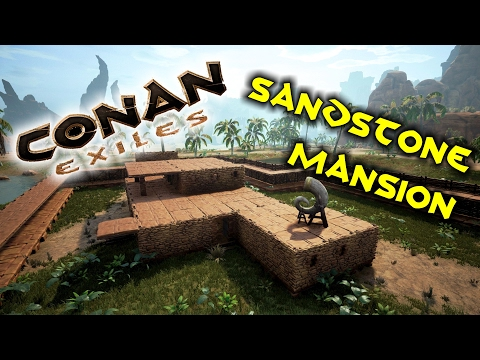 Conan Exiles - Building a Sandstone Mansion - Ancient Egyptian style!