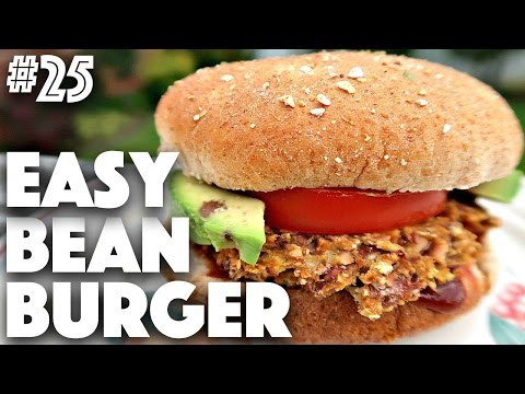 EASY GLUTEN FREE VEGAN BURGER | #25 (30 Videos in 30 Days) ♥ Cheap Lazy Vegan