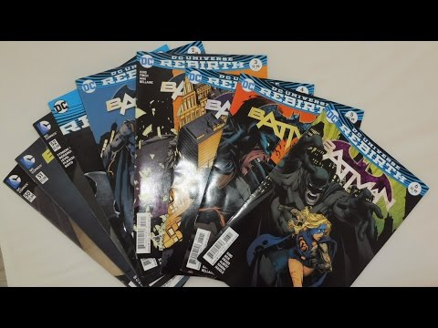 ASMR Geek / Batman New 52 and Rebirth Comic Books / Whispered ASMR Ramble / Page Sounds / Tapping