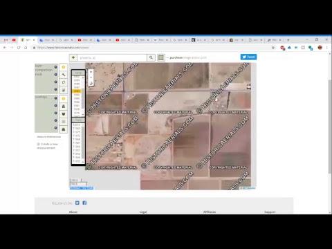 Historic Aerial Maps: Phoenix, AZ Circular Structure