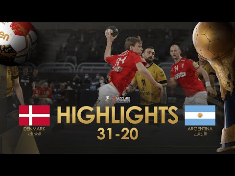 Highlights: Denmark - Argentina | Group Stage| 27th IHF Men's Handball World Championship| Egypt2021