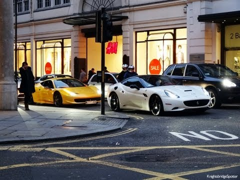 rich arab millionaire boy racers supercars in london