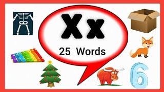 Letter X words f๐r kids/Words start with letter X/X letter words/Alphabet X/ X Words/x for words